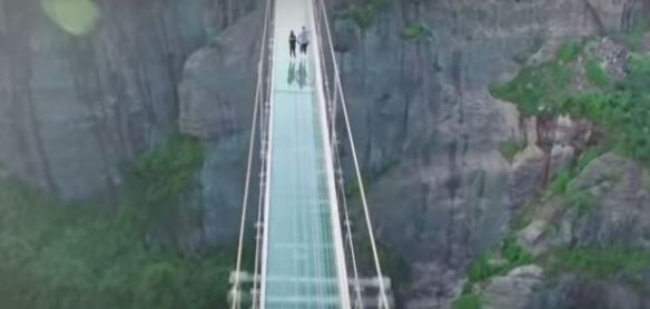 glass bridge.